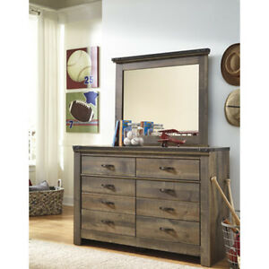 Details about Dresser 8 Drawers Mirror Chest Dark Brown Wood Bedroom  Furniture Clothes Storage