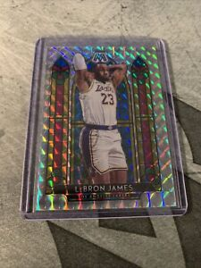 2019-20-Panini-Mosaic-LEBRON-JAMES-LAKERS-NBA-Stained-Glass-Prizm-SP-FINALS-MVP