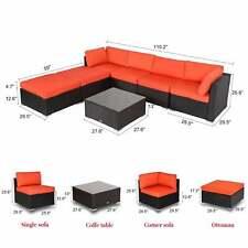 Awe Inspiring Peach Tree 7 Pcs Outdoor Patio Pe Rattan Wicker Sofa Machost Co Dining Chair Design Ideas Machostcouk