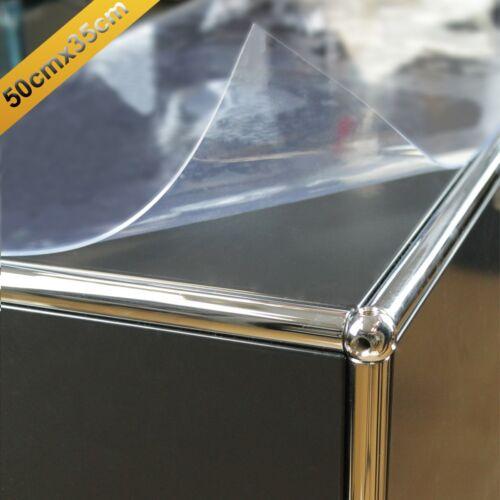 PVC Schutzfolie für 50 x 35 cm Tischdecke transparent Oberflächenschutzfolie