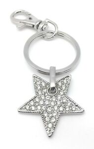 Star-Key-Chain-Purse-Charm-Crystal-Silver-Zipper-Pull-Jewelry-Christmas-Gifts