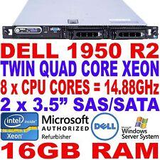 "Dell PowerEdge 1950 II Twin Quad Core Xeon 16GB RAM 3.5"" VMware 1U Rack Server"