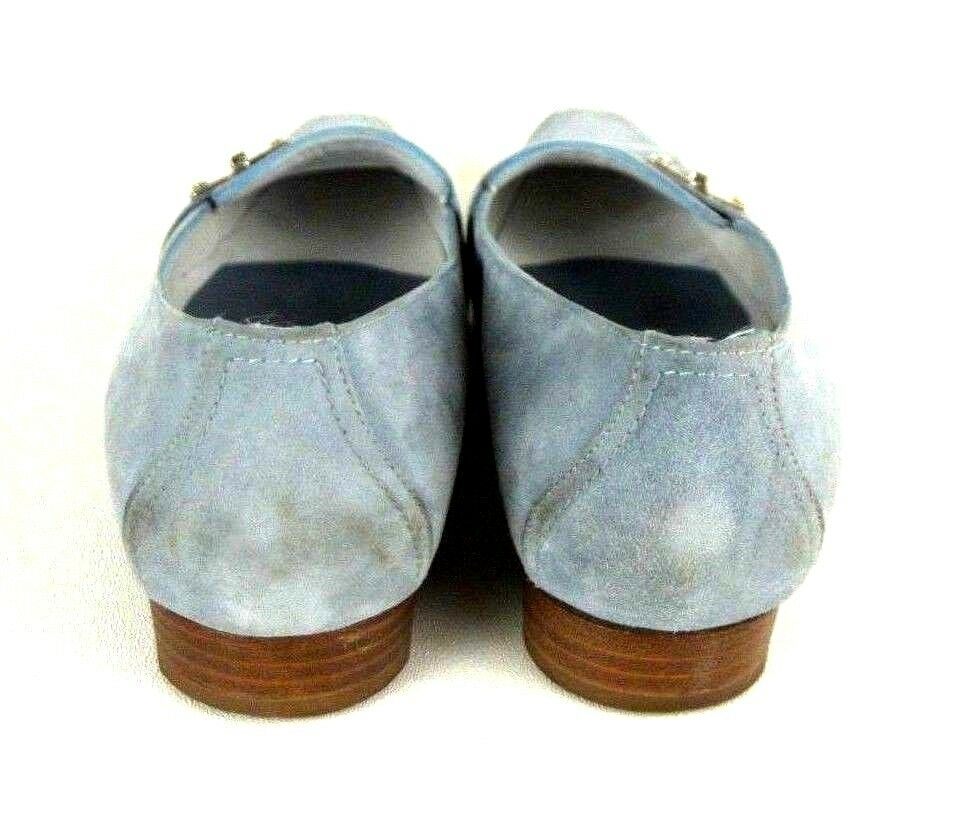 Fratelli Rossetti Suede Point Toe Loafers 7.5 Career Light Blue Slip On Flats Career 7.5 d172ae