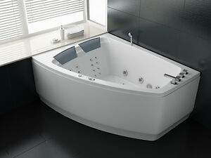 Vasche vasca idromassaggio doppia bagno 180x140 ozono 36 idrogetti spa ita ebay - Vasca da bagno doppia ...