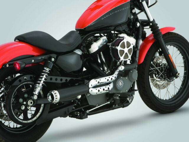 Vance & Hines RSD Tracker 2 Into 1 Black Exhaust Harley 04-13 Sportster XL