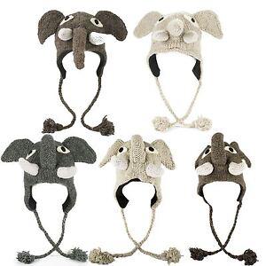 Handmade Knit 100/% Wool Unisex Animal Winter Nepal Hat Koala