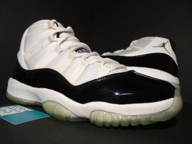 NIKE AIR JORDAN XI 11 RETRO DMP DEFINING MOMENTS WHITE BLACK gold CONCORD 10.5