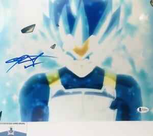 Chris-Sabat-signed-VEGETA-11X14-METALLIC-photo-BAS-COA-WAO4952