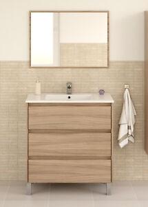 La Imagen Se Está Cargando Mueble Bano Con Espejo 3 Cajones Estilo Moderno