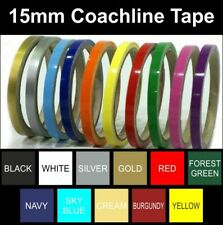 Coach Line | Pin Stripe Tape | 15mm | Water Proof | Self Adhesive | Canal Boat