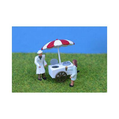 Rigoroso Unpainted Ice Cream Cart And Figures - P&d Marsh Pdpw78 - Oo Gauge Figures - F1