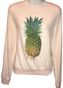 b101be430cae9 Image is loading Wildfox-Couture-Womens-Distressed-Pineapple -pullover-Sweater-in-