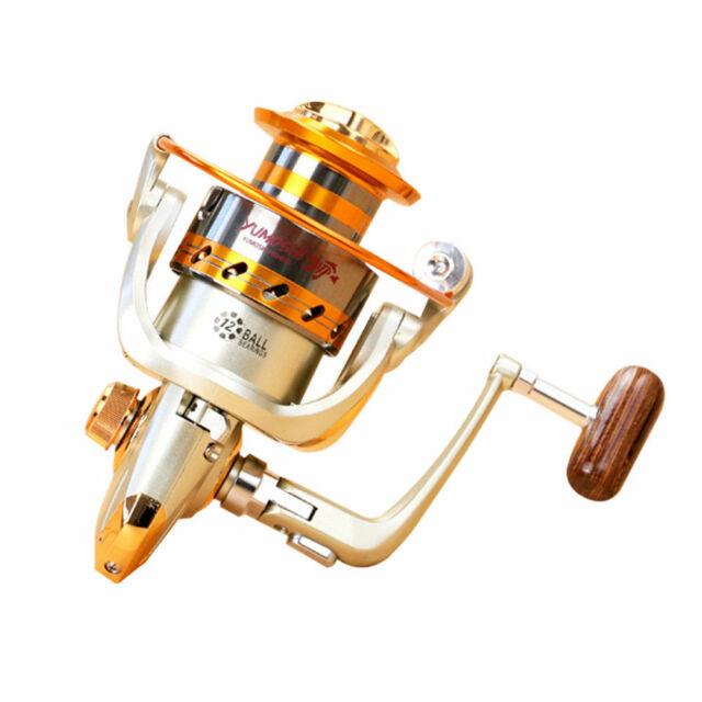Spinning Fishing Reel 12+1BB Metal Spool Folding Arm Left Right 4.11:1 US Ship