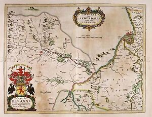 MAP-ANTIQUE-BLAEU-SCOTLAND-1654-LAUDERDALE-OLD-LARGE-REPRO-POSTER-PRINT-PAM0611