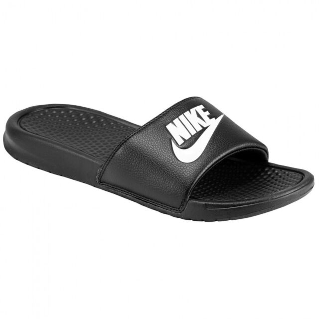 b1b58e717459ee Nike Beach Shoes Benassi Just Do It Shower Slide Bath Slippers Black
