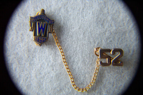 2 Lapel PINS STERLING Enamel JWH WILLOUGHBY 162 wa #52