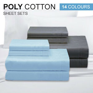 KING Single/DOUBLE/QUEEN&KING Size(Flat,Fitted,Pillowcases)QUALITY BED SHEET SET