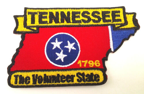 TENNESSEE STATE MAP Biker Patch PM6743 EE