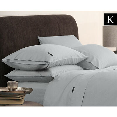 Morrissey Bamboo Luxe King Bed Sheet Set - Pewter
