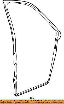 FORD OEM Focus Front Door-Body Weatherstrip Weather Strip Seal CV6Z5820530A