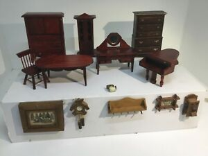 Lot Of 14 Pieces Vintage Doll Furniture Accessories Ebay