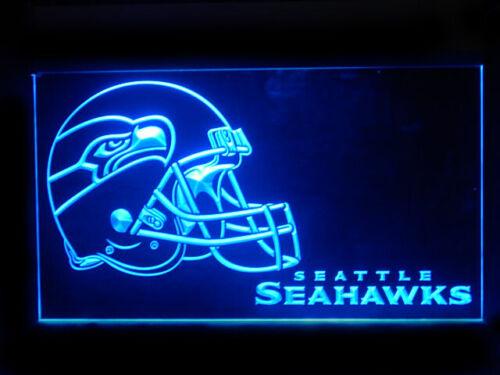 J179B Seattle Seahawks Helmet Football For Man Cave Display Light Sign