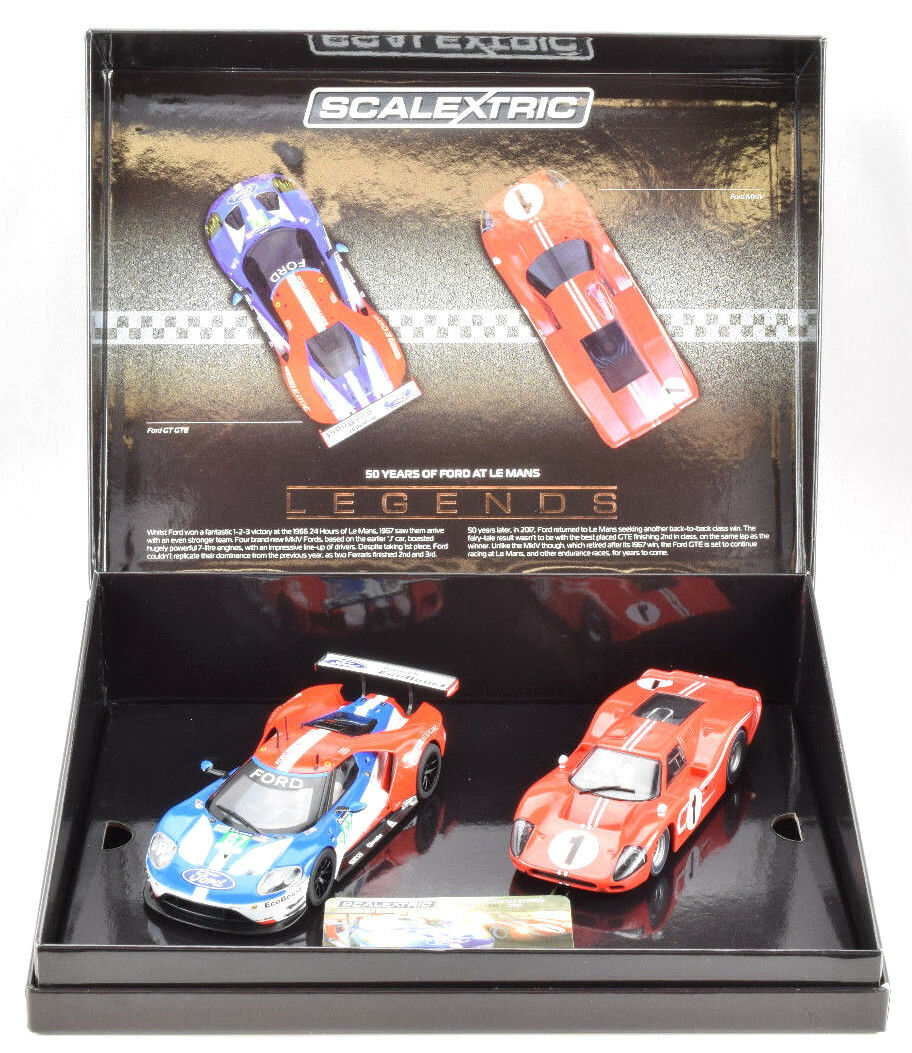 Scalextric 1967 Le Mans 50 Years of Ford Limited Boxed Set 1 32 Slot Cars C3893A