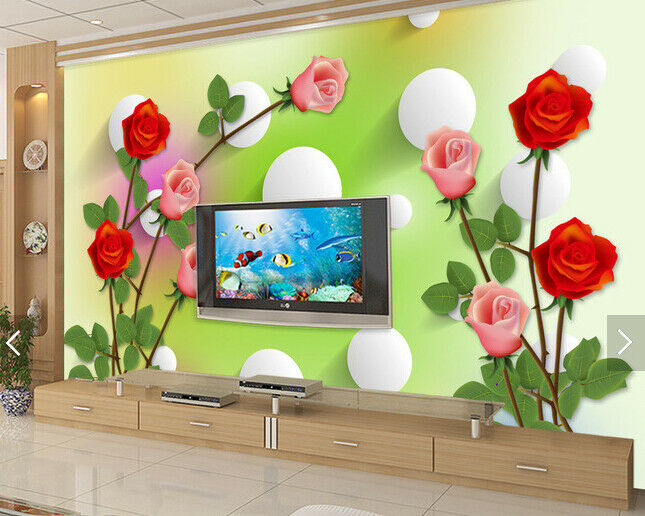 3D Red Pink pinks 872 Wall Paper Murals Wall Print Wall Wallpaper Mural AU Lemon