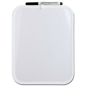 """2-Pack BAZIC 8.5 X 11/"""" Small Dry Erase White Board With Marker Note Study"""