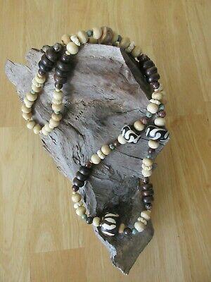 Flower Bead Necklace Bovine Beaded Necklace 1930/'s Bone Bead Necklace Carved Bone Bead Necklace Vintage Bone Bead Necklace