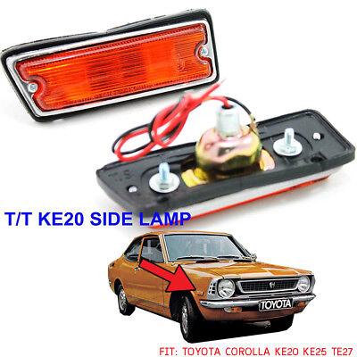 Toyota Corolla KE10 KE11 KE15 KE16 KE17 pair side marker light Corona RT40 NEW