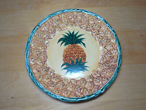 & Pacific Rim PINEAPPLE Set of 5 Salad Plates 9 in Embossed