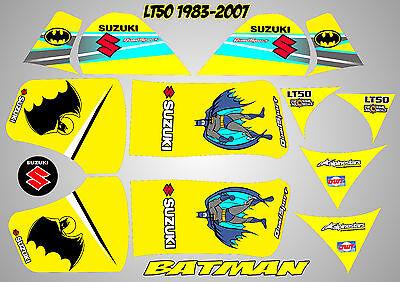 suzuki lt50 quad graphics stickers decals lt 50 laminated batman blue lt 50