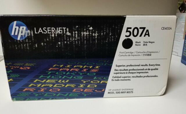 Genuine HP 507A Toner Cartridge Black Made by HP CE400A