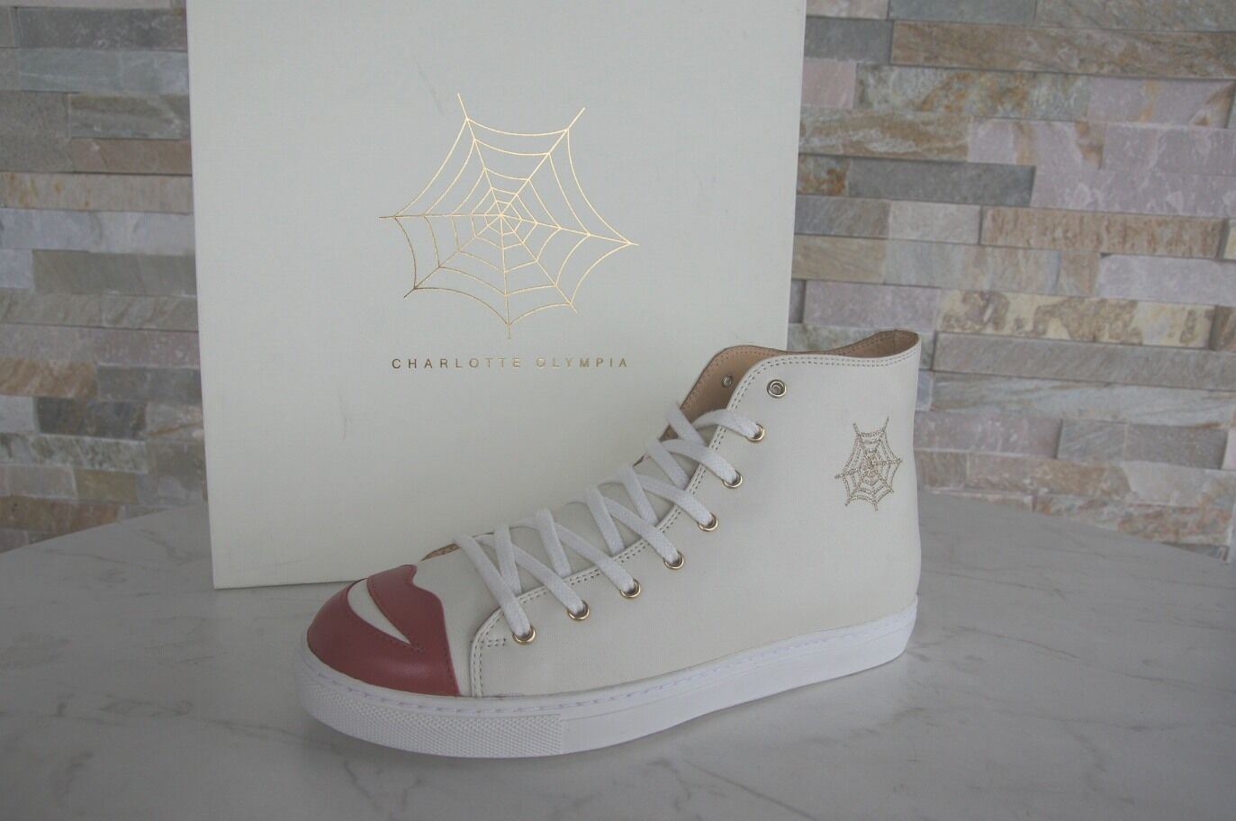 CHARLOTTE Top OLYMPIA Taglia 40 High Top CHARLOTTE Sneakers normalissime scarpe KISS NUOVO UVP 2e1158