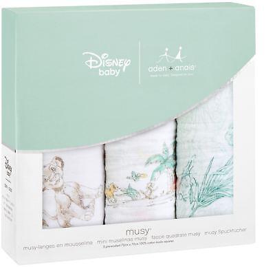 Avere Una Mente Inquisitrice Aden + Anais Disney Classic Musy 3 Pack 101 Lion King Alimentazione Bambini Bavaglini Bn-mostra Il Titolo Originale
