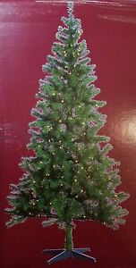 Image is loading NEW-PreLit-7-FOOT-Christmas-Tree-Western-Balsam-