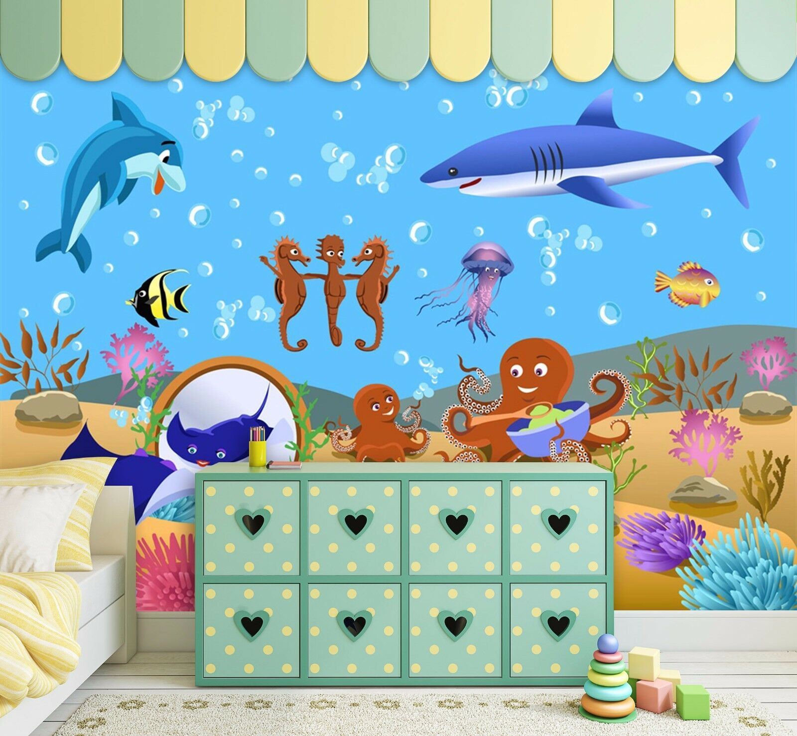 3D Lovely Ocean World 2306 Paper Wall Print Wall Decal Wall Deco Indoor Murals