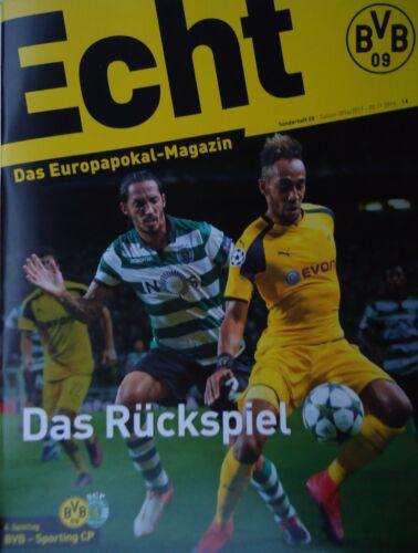 Programm UEFA CL 2016//17 Borussia Dortmund Sporting Lissabon