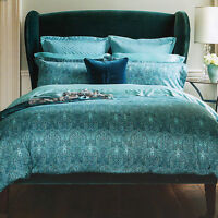 Henry Christy 1850 Alhambra Teal Blue Cotton Double Duvet Quilt Cover Bedding