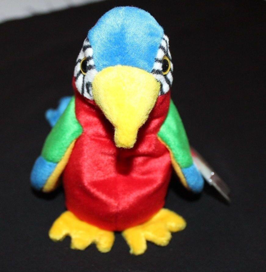 Seltene beanie baby papagei namens jabber mit tag - fehler