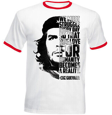 NEW COTTON GREY LADY TSHIRT We must struggle Che Guevara