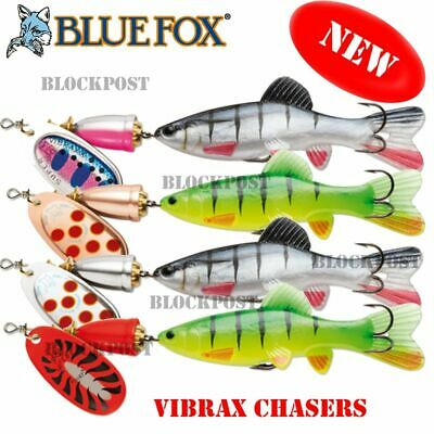 NEW 2019 Blue Fox Vibrax Chaser Spinner Spoon Fishing Lure Various Colours 9-14g