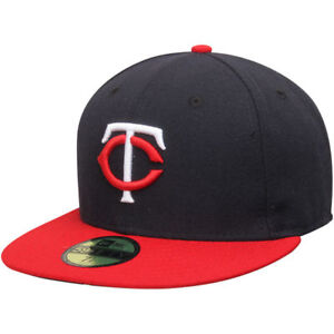 730ef6d6d Details about New Era Minnesota Twins Youth Authentic On Field 59FIFTY  Fitted Cap Hat 6 3/4
