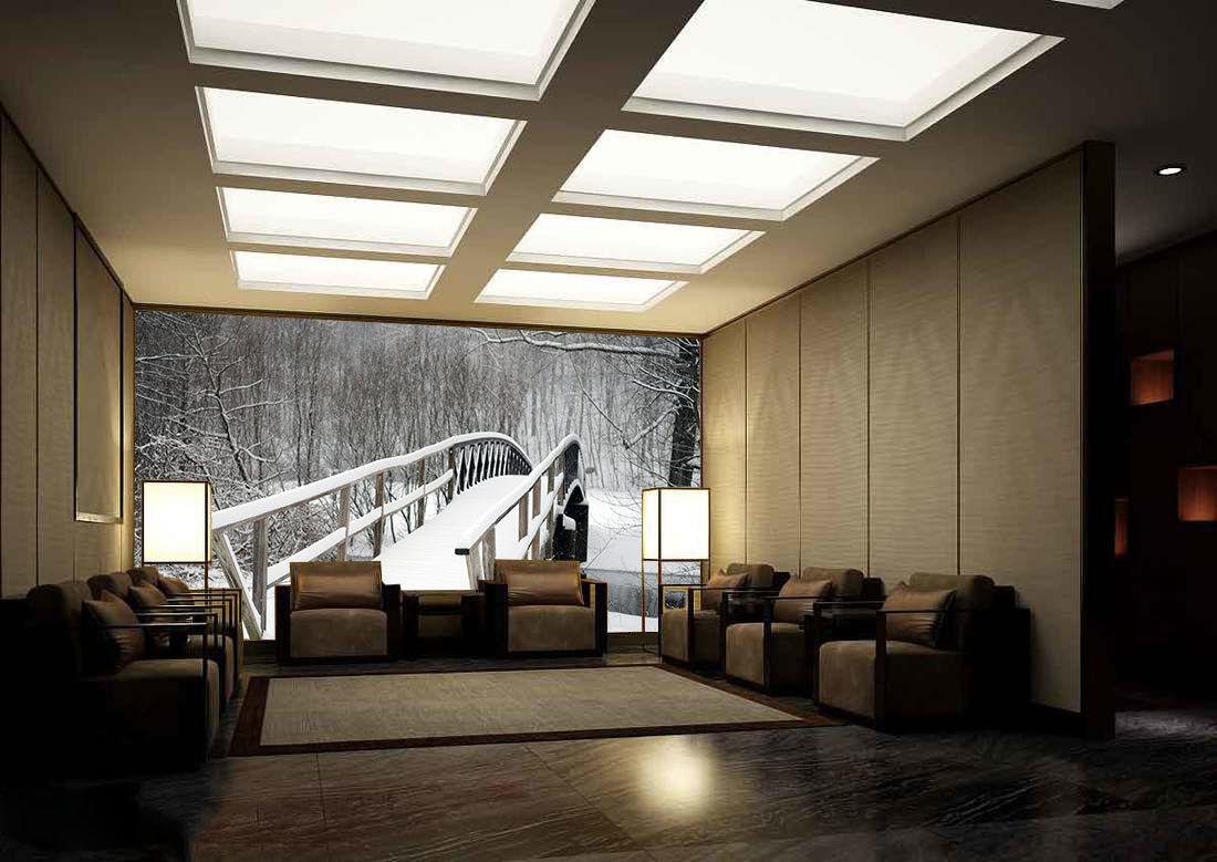 3D Snow Bridge Trees 8 Wall Paper Murals Wall Print Wall Wallpaper Mural AU Kyra
