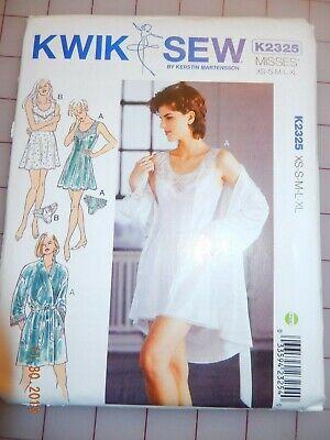 Kwik Sew K3106 Nightgowns Sewing Pattern Size XS-S-M-L-XL