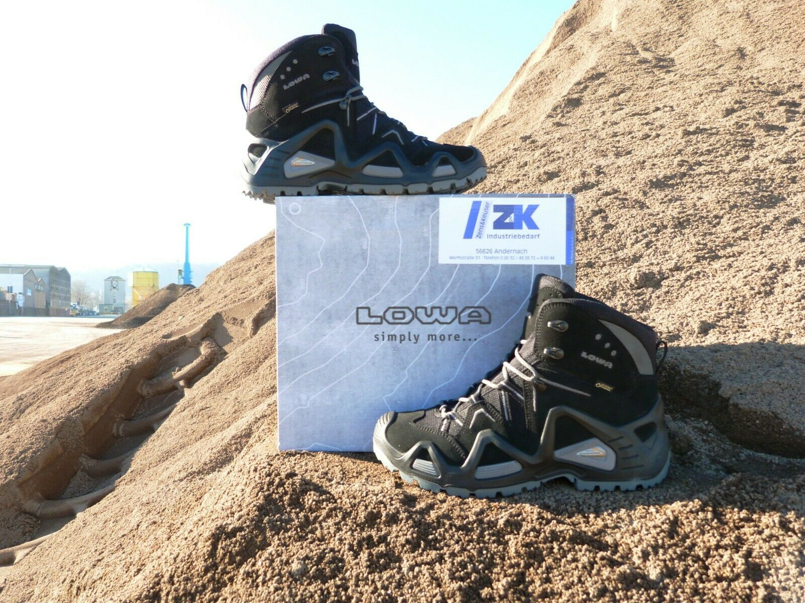 LOWA Wanderschuhe Rex Mid GORETEX Schuhe Schuhe Schuhe Trekking Wandern Blau oder Schwarz 3557bf