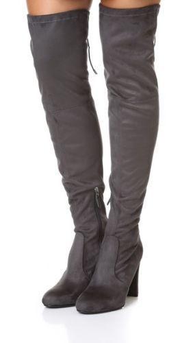 Sam Edelman Kent por encima de la la la rodilla con gris Oscuro gris botas De Gamuza 8.5 Nuevo  tienda en linea