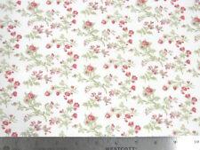 Moda 3 Sisters Seaside Rose Rosebuds White Fabric
