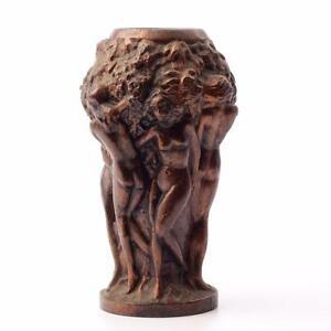 Art-Deco-Czech-Curt-Schlevogt-Ingrid-Grape-Harvest-nudes-resin-plastic-test-vase